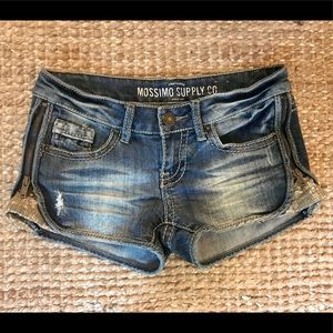 Mossimo Supply Co. Embellished Jean Shorts Sz 3